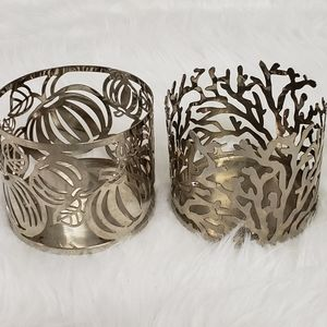 Bath and Body Works silver candle holders